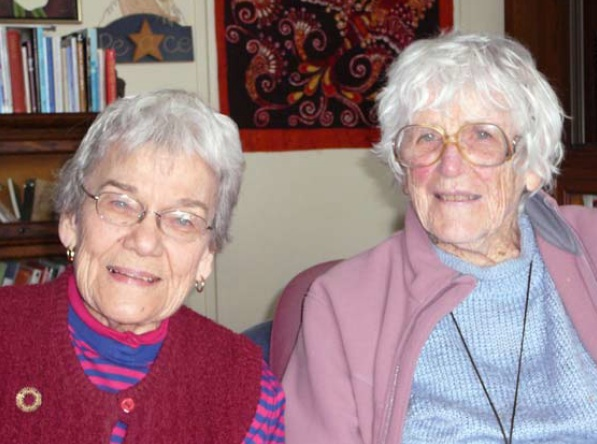 Left to right: Betty Peterson; Muriel Duckworth.
